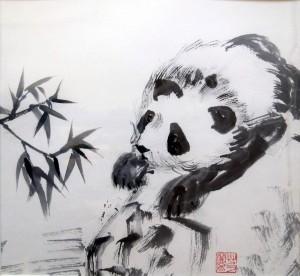 «Панда», 33х31, тушь,бумага, 2007 г.