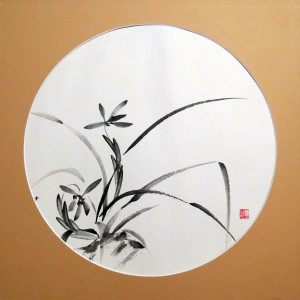«Орхидея 2», тушь, бумага, D-43, 2005 г.