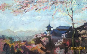 «Панорама Киото», холст, масло, 80х50, 2014 г.
